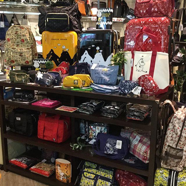 ラパックスイオン長吉店です。秋冬用、新作商品続々入荷^_^ムーミン&スヌーピーキャリーミニポーチなどなどプレゼントにも喜ばれる商品勢揃いしてます。楽しく、可愛いバッグで気分もルンルン。旅行もさらに楽しめますね。