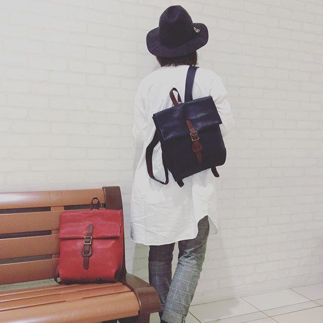 mikiyaソンティールシリーズリュックサック姫路レザー  日本製 ¥24,000 tax#レザー#レザーリュック#yamanashi#ラザウォーク#japan#bag#グランサックスプレミアム甲斐双葉